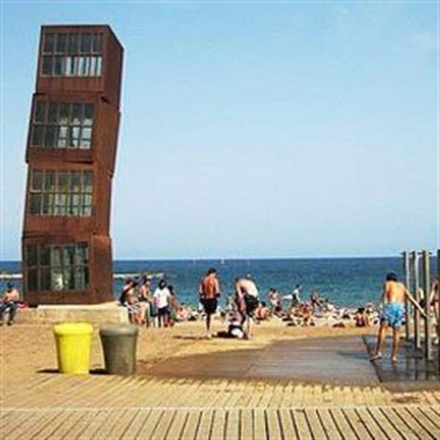 они пляж барселона в лазаревском фото полотно